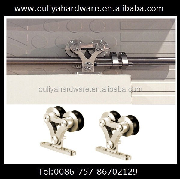 Modern stainless steel sliding barn door roller set hardware used in solid wood