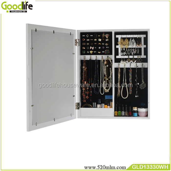 GLD13330Mirror jewelry armoire