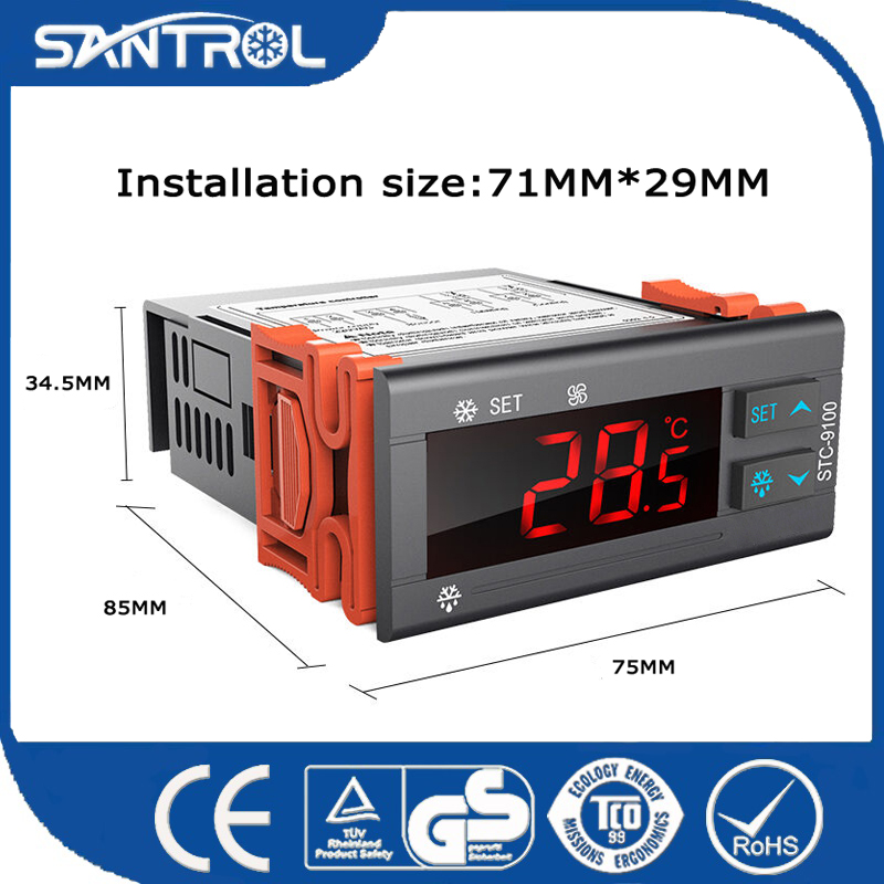 Upgraded Version Cool/Heat Auto Switch Price Digital Temperature Controller for Fish Pond and Oil Cooler STC-9100