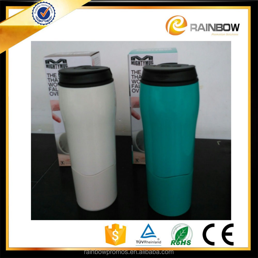 OEM logo 2017 novelty travel theromo non-spill insulated mighty mug suction