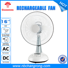 "Home Essentials White 3-Speed 16"" inch 12V Battery Rechargeable Fan With Lantern"