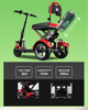 China Wholesale Comfortable 3 wheel Fat Tire Folding Mobility Scooter Fashion Electric Scooter for Elderly