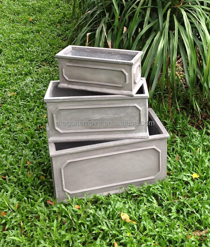 Garden Decor Square Fiber Cement Planters Buy Large Square Garden Planter Square Concrete
