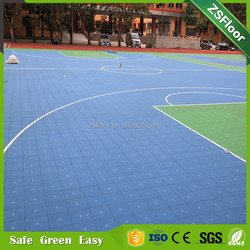 Shock absorption cheap outdoor plastic flooring sports sheet used basketball flooring