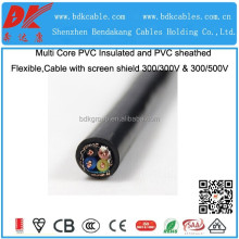copper wire or tape screen cable multi screen cable electric shield wire shield / screen cable/ wire braided screened cable