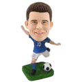Custom football player bobblehead,dashboard bobble head figurines, custom pvc soccer player bobblehead toys