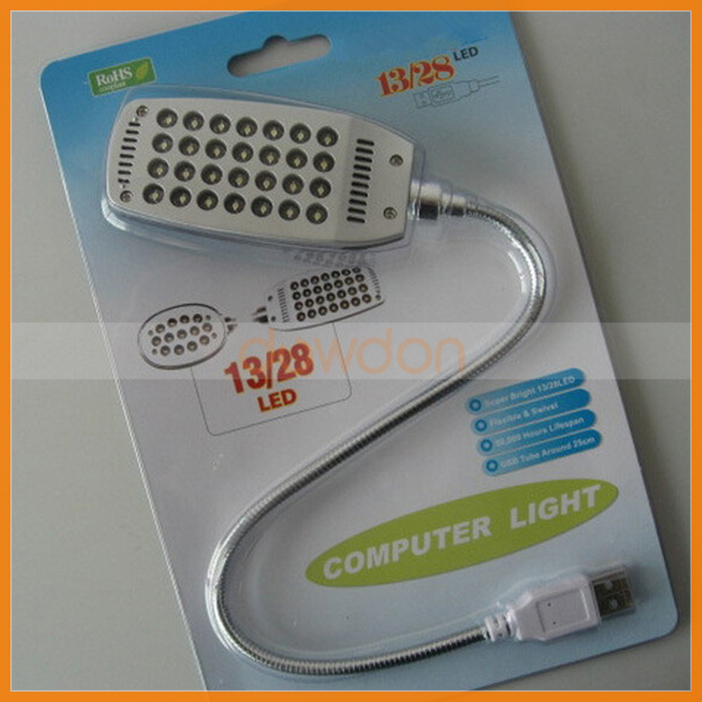 Computer Notebook 28 LED USB Flexible Desk Book Light