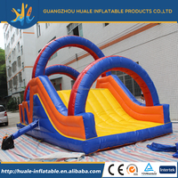 2016 new sale Animation figures inflatable slide/giant inflatable slide/inflatable fire truck slide