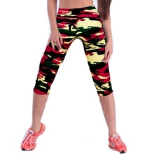 Camouflage Leggings Sexy Women Legging Fitness Bulk Clothing Long Capri Pants for Woman