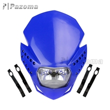 Pazoma Polypropylene Blue Plastic Cover E4 P43T 12V 35W LED Motorcycle Headlight With Turn Signals