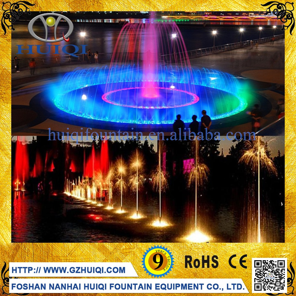 IP68 24W Stainless Steel Outdoor Color Changing Led DMX Underwater Lights for Music Fountain