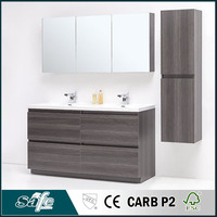 american style bathroom furniture with melamine foil finish