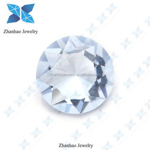 wholesale loose gemstone white round faceted cut factory price cz stone