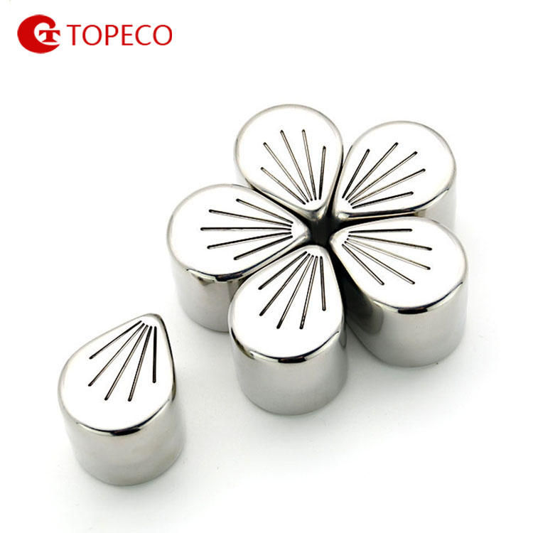 Stainless Steel FLOWER Ice Cubes Beer Chillers Whiskey chilling rocks