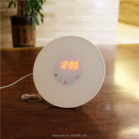 Sunrise alarm clock wake up light with alarm clock FM radio&natural sound