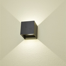 Black white housing 2700 3000 6000K 10w surface mounted outdoor adjustable led wall lamp
