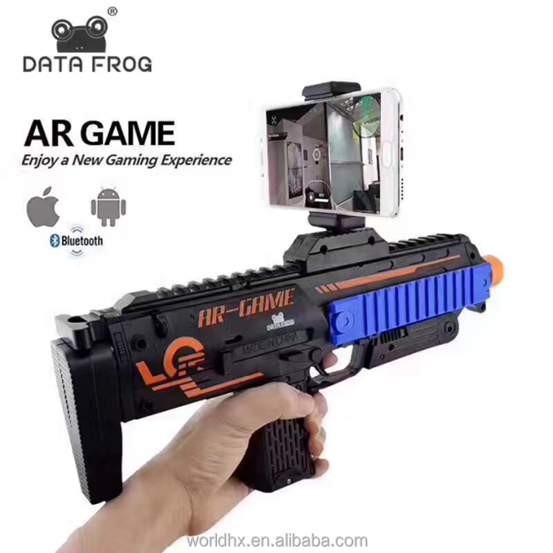 popular toys AR game gun controller,bluetooth VR gun plastic for mobile phone with game app