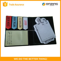 Onzing good quality die cut shaped sticky notes writing pad