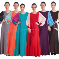 musilm abaya women long dress chiffon islamic clothing