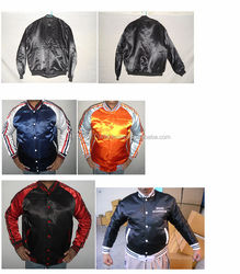 Custom Different Styles of Satin Varsity Jackets College Jacket