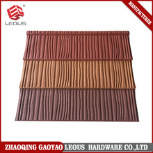 2017 new products corrugated stone coated lightweight shingle roof tiles