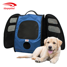 Expandable Versatile Back Carrier Mesh Multiple Deluxe Dog Carrier Travel Backpack Double Shoulders Straps Bag