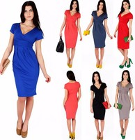 Bestdress party design clothes HOT SALE DEEP V-NECK LATEST DRESS EUROPEAN NEW FASHION DRESS FOR LADY