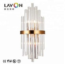 Luxury crystal decorate lighting new design G9 led wall lamp hotel