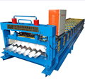 stable performance trapezoidal steel forming machine for roofing panel prices