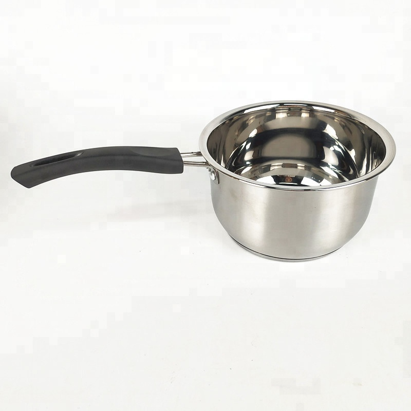 High Quality 1 Quart  Induction Compatible Saucepan Stainless Steel Saucepan with Lid