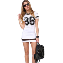 White Short Mini Shirt Dress Bodycon One Piece Fashion Women Dresses Casual For Girl