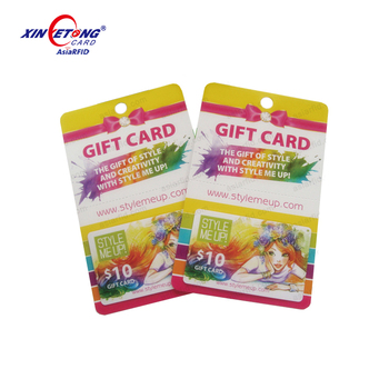 PVC Plastic Gift Cards With Coupon Barcode,Gift Vouchers
