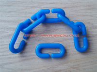 Customized size colored plastic snap ring with non-standard
