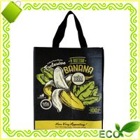 custom recycled photo printing tote shopping grocery carry away promotional bopp lamination non woven gift bag