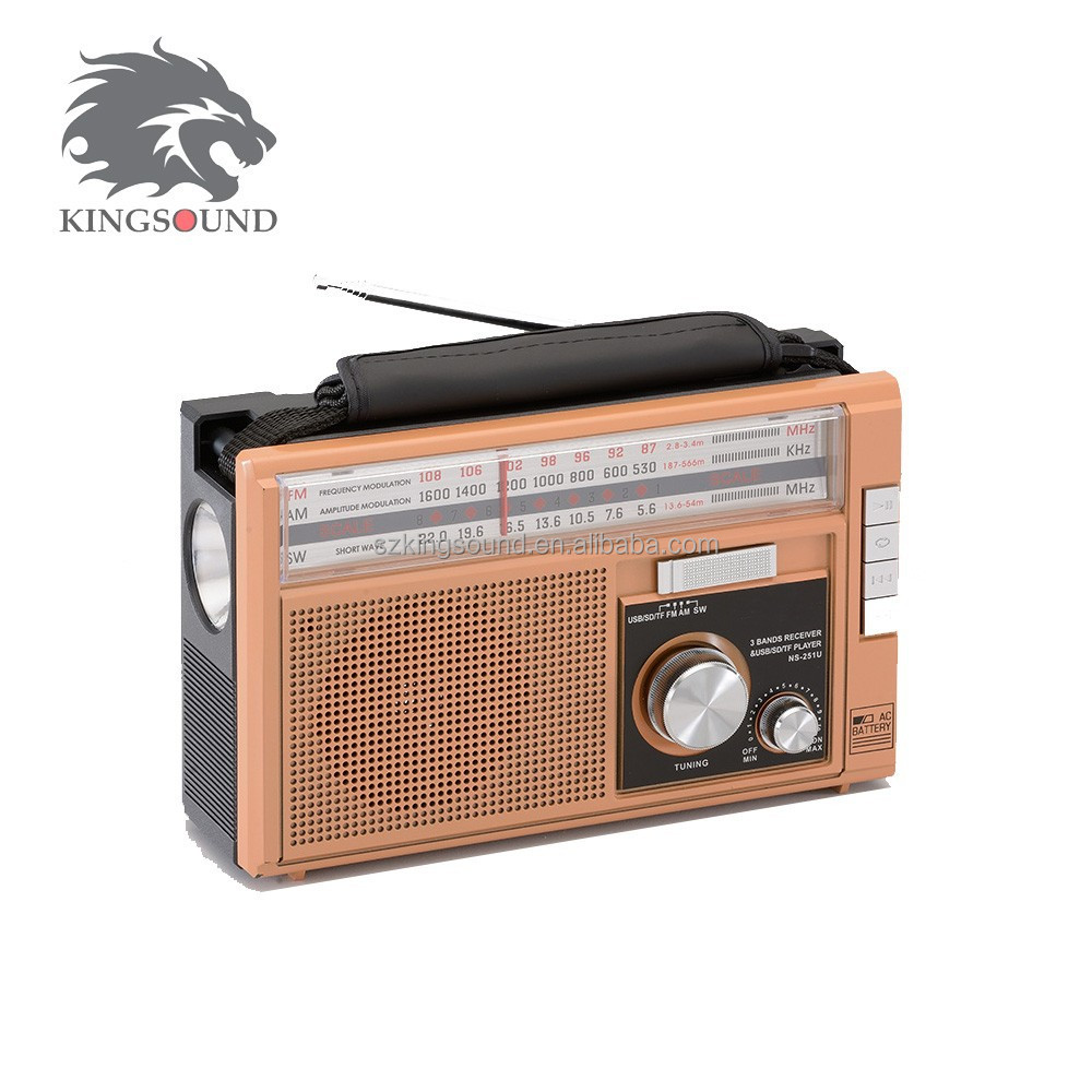 KIDS USE KS-512U AM/FM/SW 3 BAND WITH TORCH RADIO