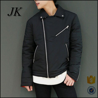 mens korean stylish quilted slant zipper up down warm fashion jacket