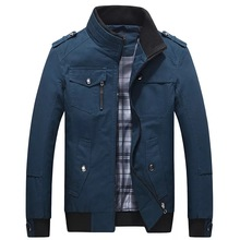 wholesale wind-proof stand collar coat <strong>men</strong> bomber <strong>jacket</strong>,softshell cotton <strong>jacket</strong>