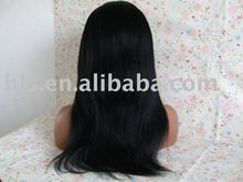 hair length16'' color 1# yaki ear to ear stretch wigs high quality 100% human hair full lace