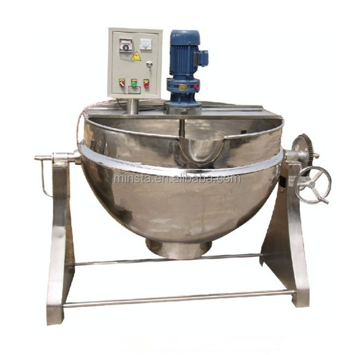 Gas Jacketed Cooking Pot / Sandwich / Kettle / Boiler for Halogen Products