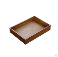 Different size wooden storage tray