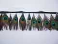 Newly women peacock eye feather fringe and trimming