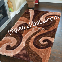 Ronggang alibaba wholesale flower pattern washable hand carved area rug