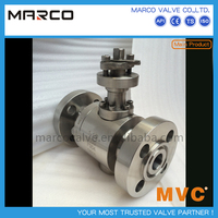 Competitive price flanged end normal or extended stem forging ss stainless steel two pieces ball valve or 2pcs
