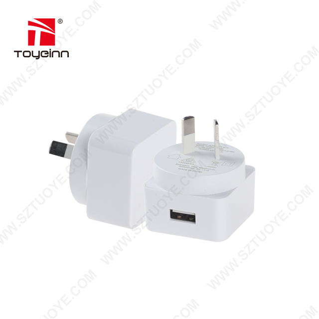 SAA/C-Tick Approve 5W/10W USB Wall Charger 5V 1A/5V 2A USB Travel Charger Adapter for AU