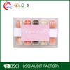 Custom retail food grade macaron clamshell packaging