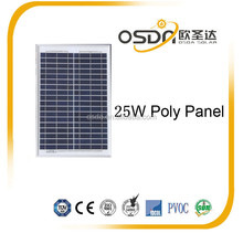 HOT sale small solar module 25w POLY