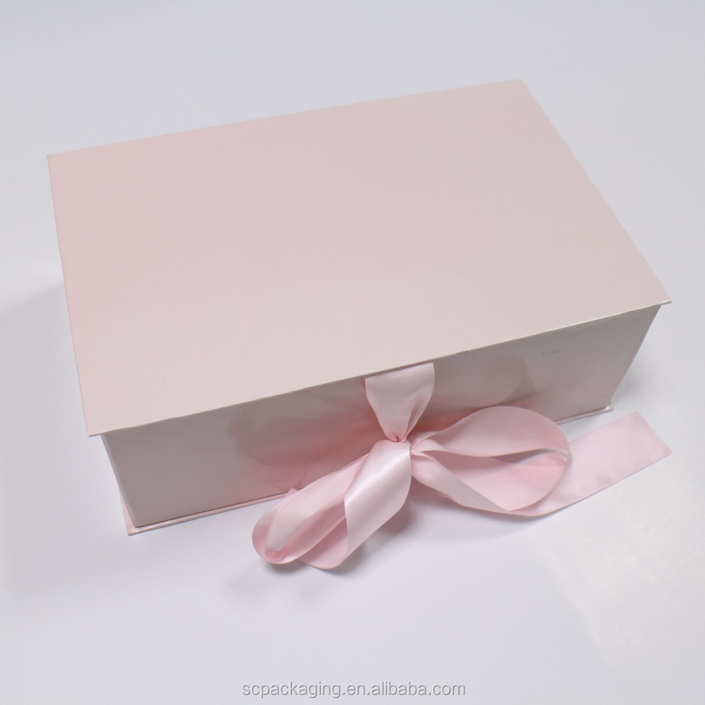 OEM factory flower box luxury packaging magnetic closure folding gift box with ribbon