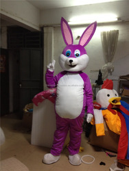 Christmas costumes Halloween Purple Easter Bunny Rabbit Mascot Professional Party Cartoon Character Fancy Dress Suits Outfit