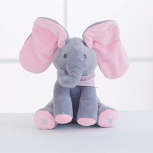 peek a boo elephant doll with ivory stuffed pillow plush key chain plush toys for children birthday christmas gift