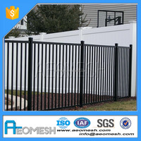 Factory Price of rail fence/garden folding fence/iron fence panels